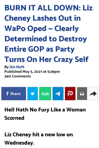 Liz Cheney Lashes Out in WaPo Oped — Clearly Determined to Destroy Entire GOP as Party Turns On Her