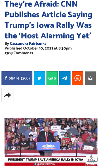 They're Afraid: CNN Publishes Article Saying Trump's Iowa Rally Was the 'Most Alarming Yet'