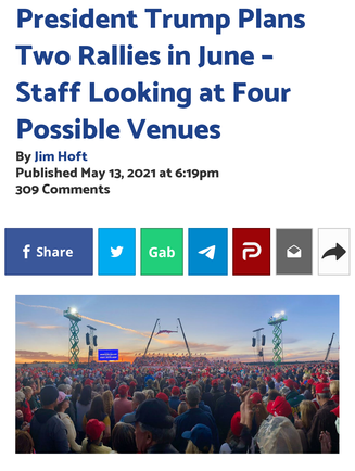 President Trump Plans Two Rallies in June – Staff Looking at Four Possible Venues