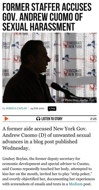 ANOTHER ONE: Former Staffer Accuses Gov. Andrew Cuomo of Sexual Harassment