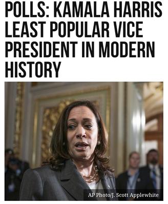 Polls: Kamala Harris Least Popular Vice President in Modern History