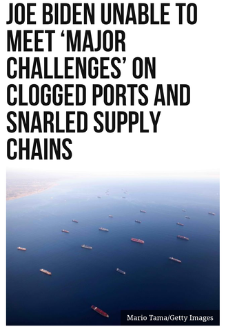 Joe Biden Unable to Meet 'Major Challenges' on Clogged Ports and Snarled Supply Chains