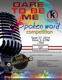 2014 _Dare To Be Me_ Spoken Word Competition registration is now open