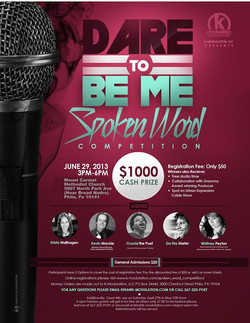 Hello all, this is just a reminder about this year's spoken word competition on June 29, 2013