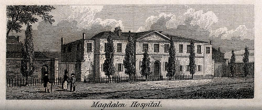 Sketch of Magdalen Hospital in London