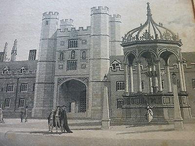 Trinity College Cambridge by Thomas Malton, 1798