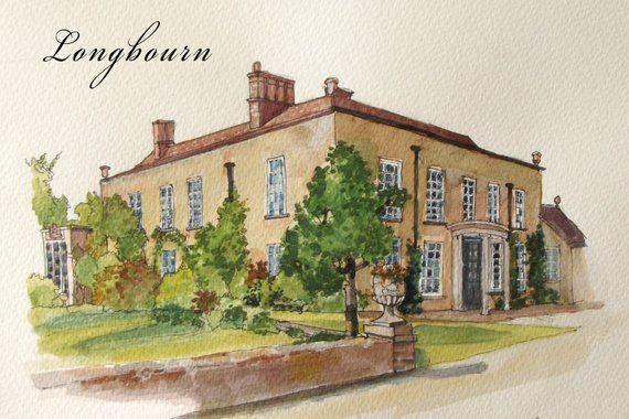 Watercolor of Longbourne