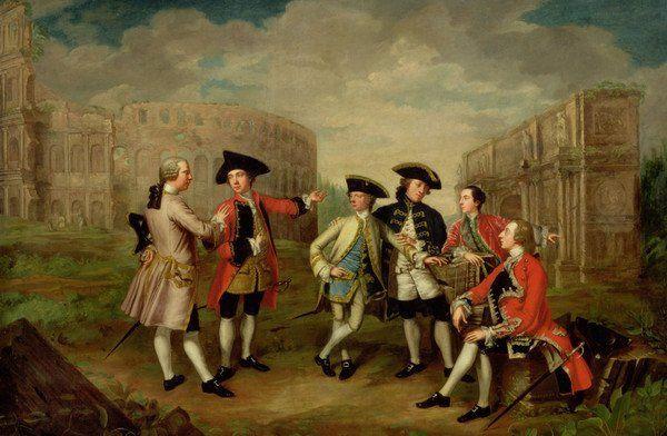 Painting of Gentlemen in Rome by Katharine Read