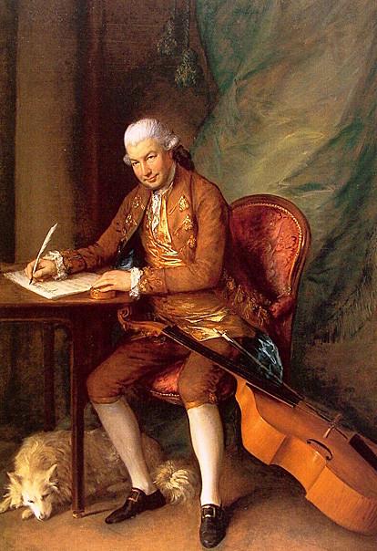 18th century gentleman composing music