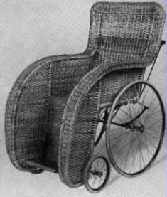 Photograph of Indoor Wicker Wheelchair