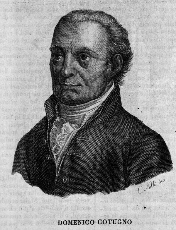 Sketch of Domenico Cotugno