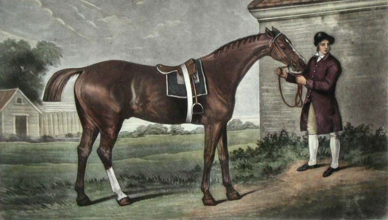 Painting of man with horse