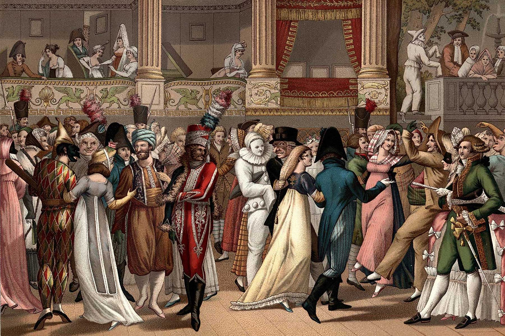 Painting of Bal de L'Opera d'apres Bosio by Jean Francois Bosio