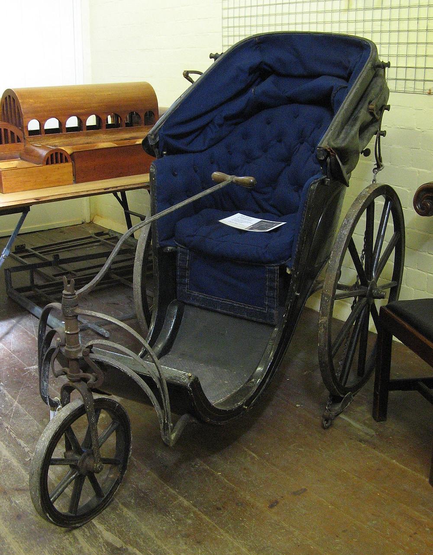 Photograph of a Bath wheelchair