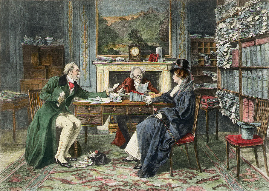 Painting of Breach of Promise by Walter Dendy Sadler