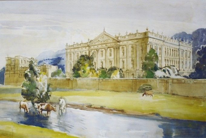 Painting of Lyme Park