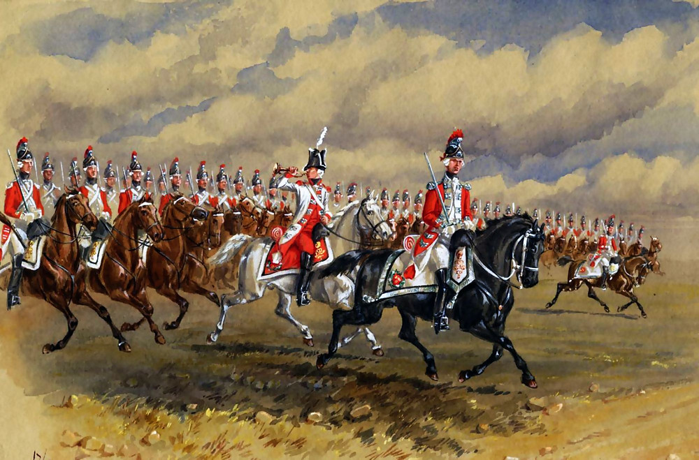 Painting of 17th Light Dragoons
