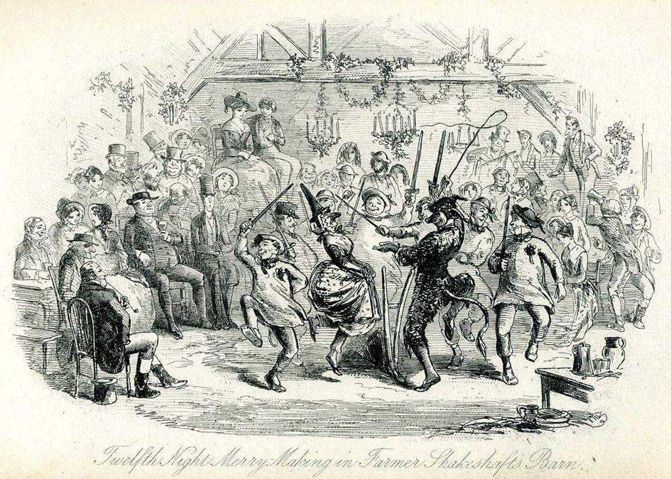 Sketch of twelfth night party