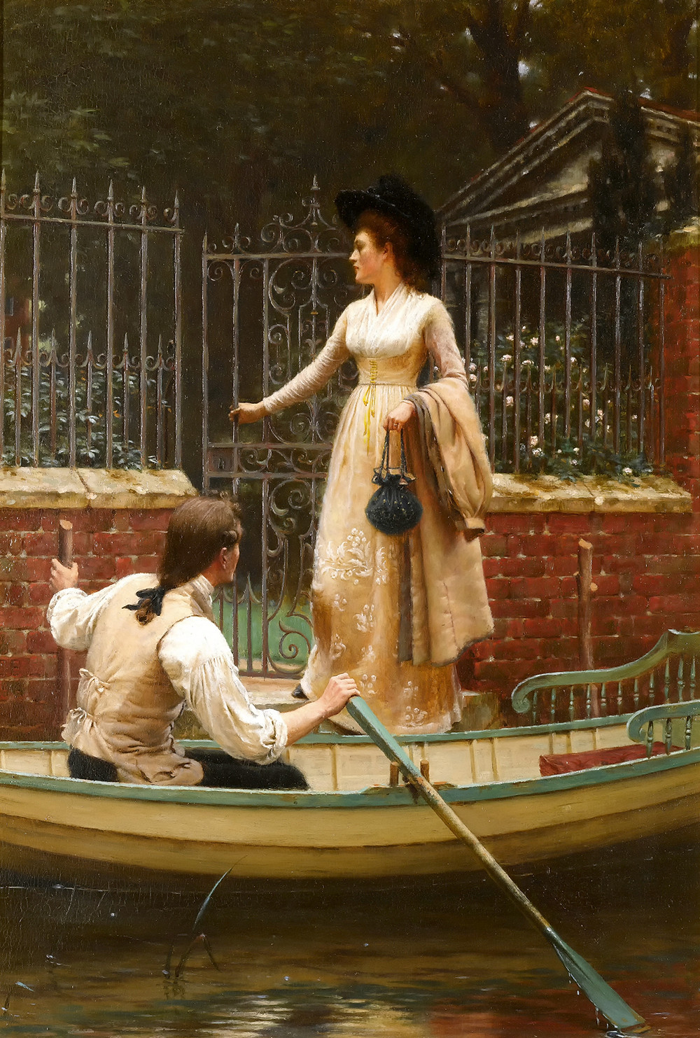 Painting of The Elopement by Edmund Blair Leighton