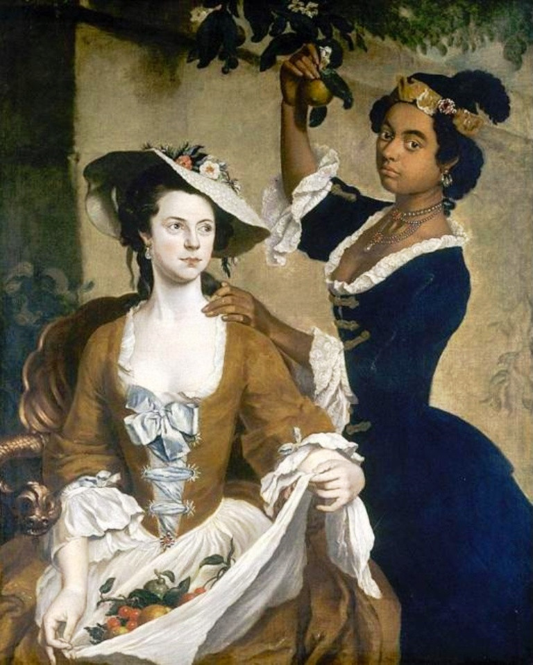 Painting of Two Society Women by Stephen Slaughter