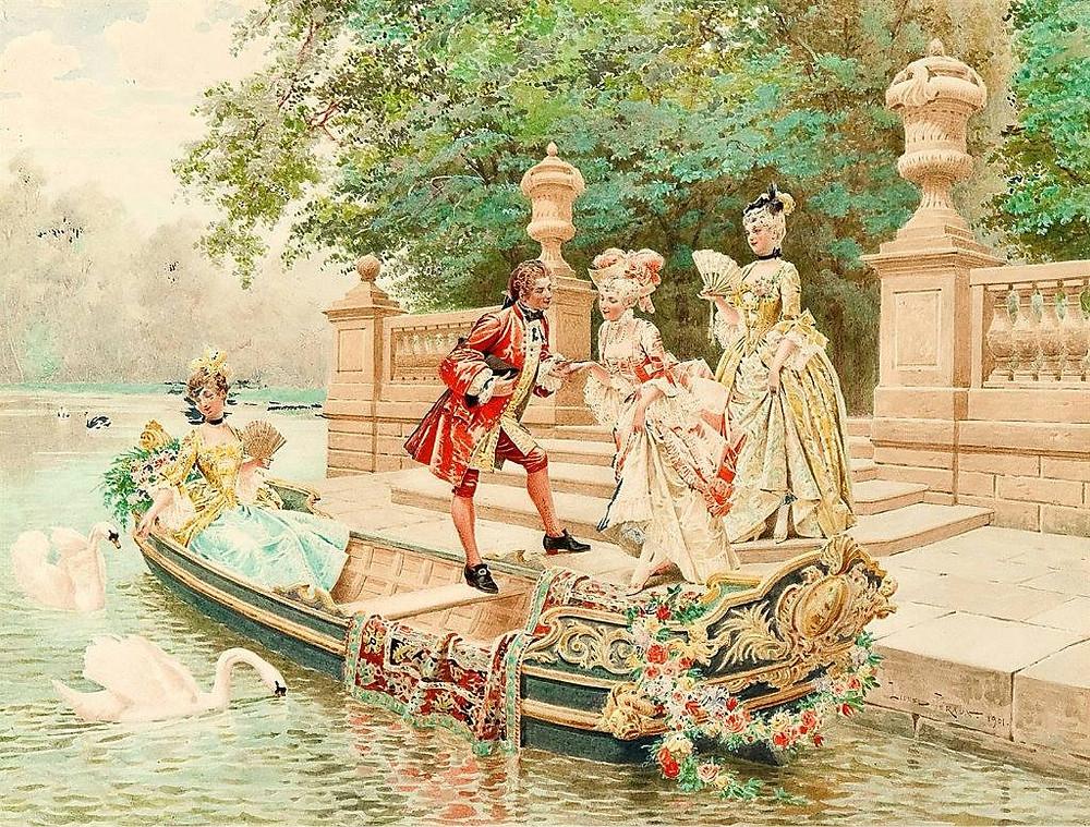 Painting of Éléganterie by Lionel Péraux