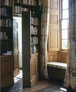 Photograph of a hidden double door