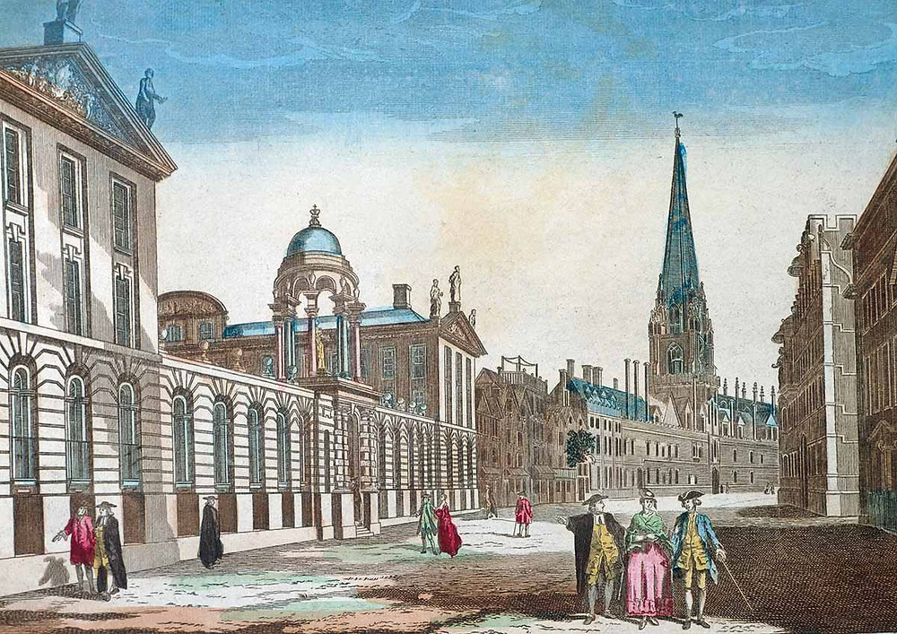 University College and Queen's College, Oxford, 18th-century engraving