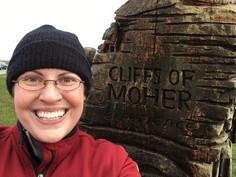 Paullett at Cliffs of Moher
