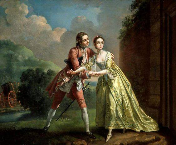 Painting of eloping couple