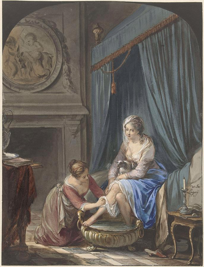Toilet of a Young Woman by Willem Joseph Laquy, 1771