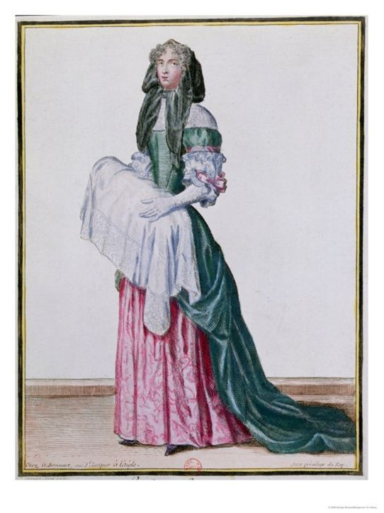 Sketch of an 18th century midwife