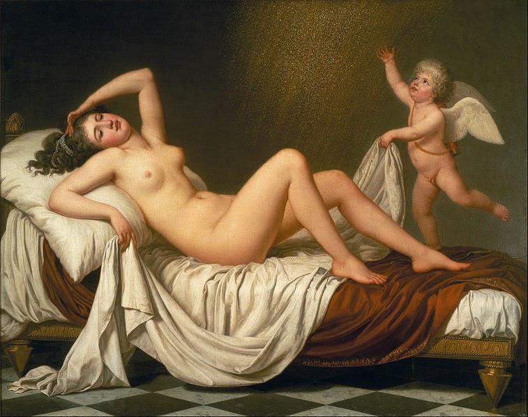 Danaë & the Shower of Gold by Adolf Wertmüller, 1787