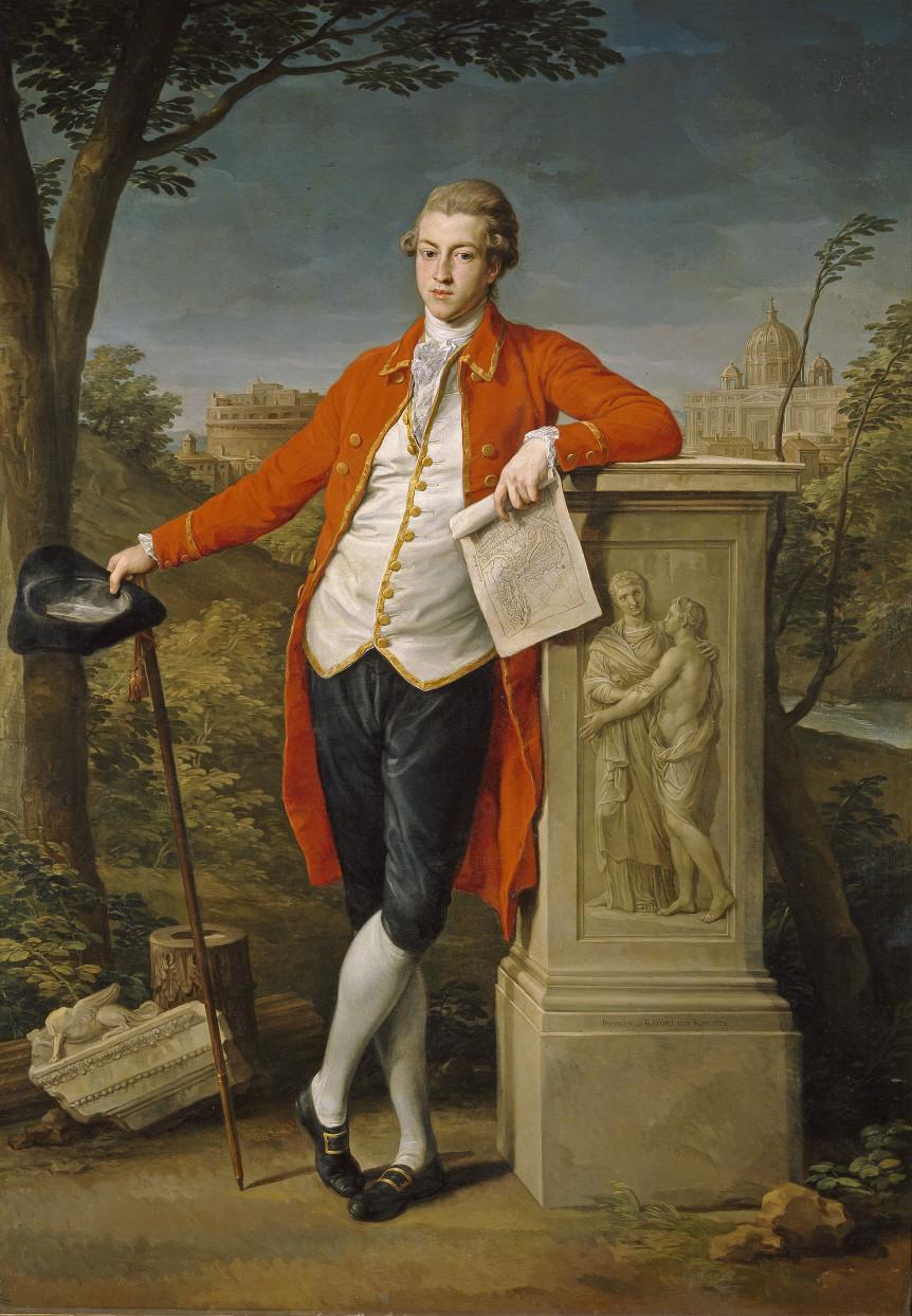 Painting of Francis Basset, 1st Baron de Dunstanville and Basset (1757-1835), Batoni 1778