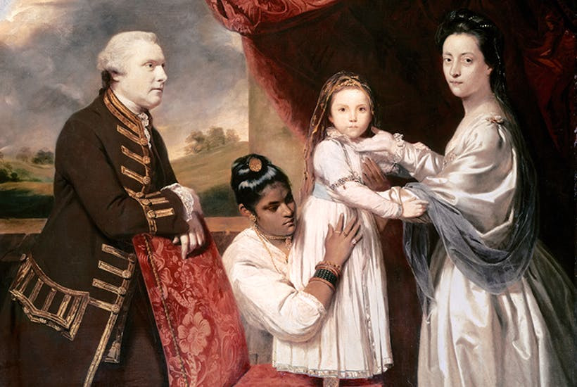 Painting of George Clive and His Family by Joshua Reynolds