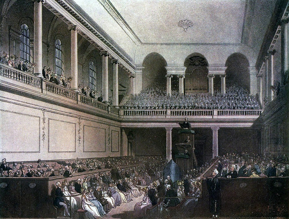 Sketch of the Foundling Hospital Chapel