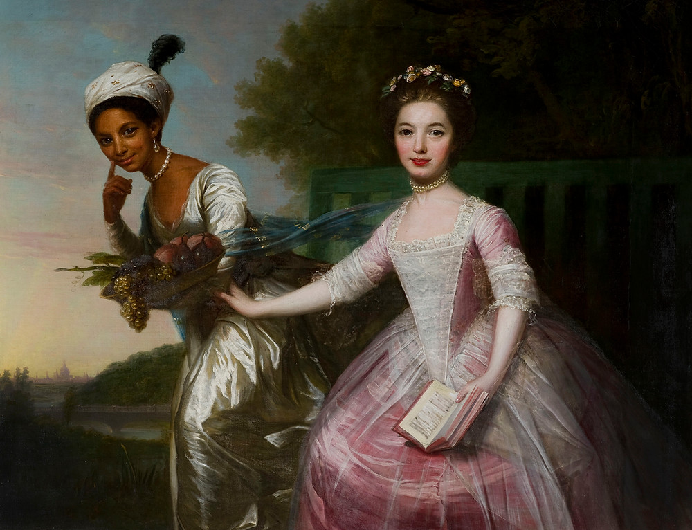 Painting of Dido Elizabeth Belle Lindsay and Elizabeth Murray by David Martin
