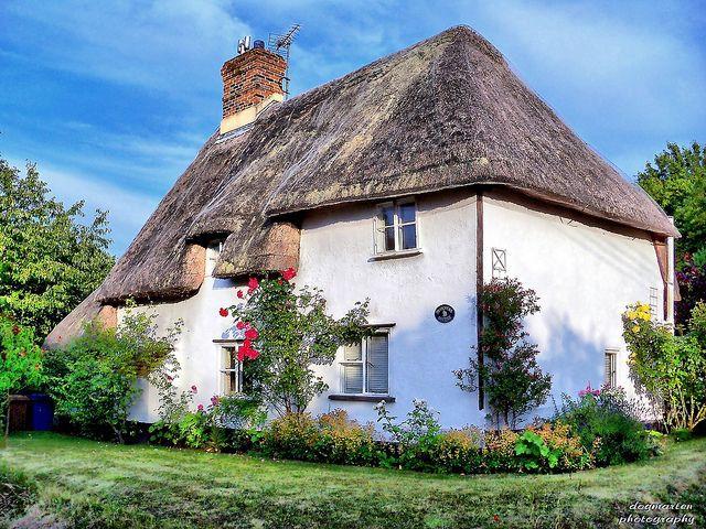 Photograph of a cob cottage