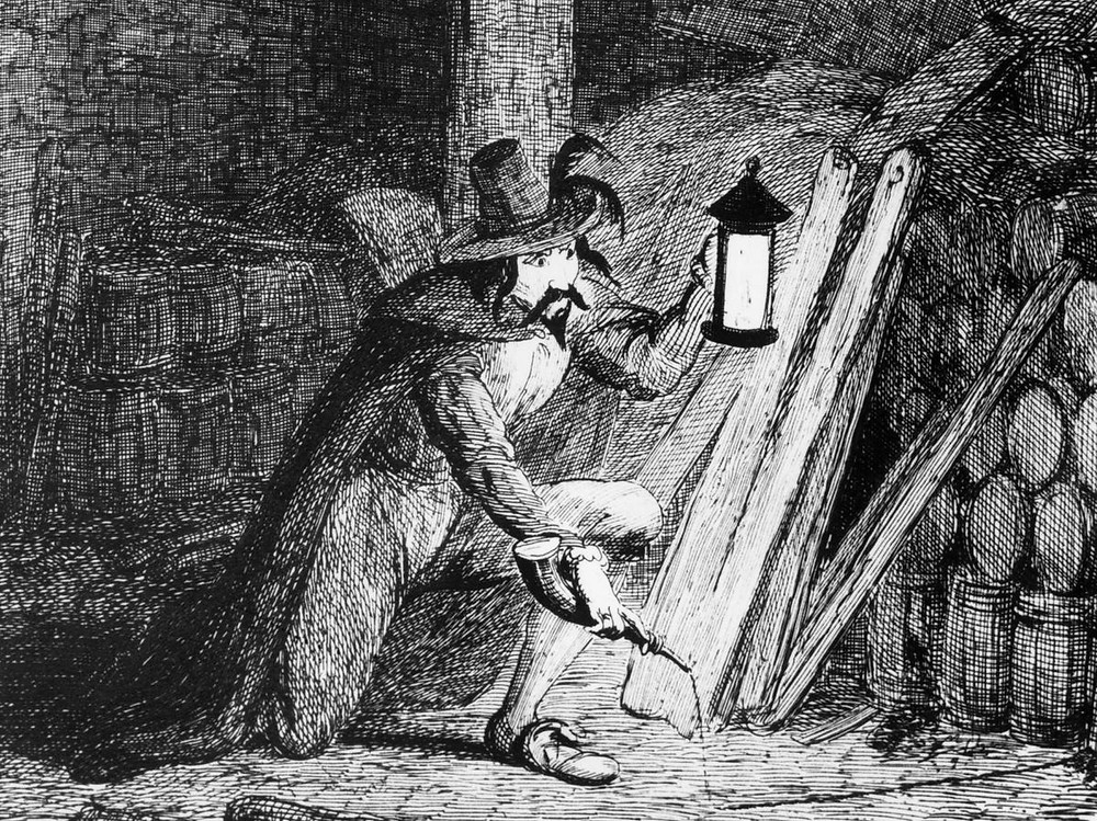 Sketch of Guy Fawkes