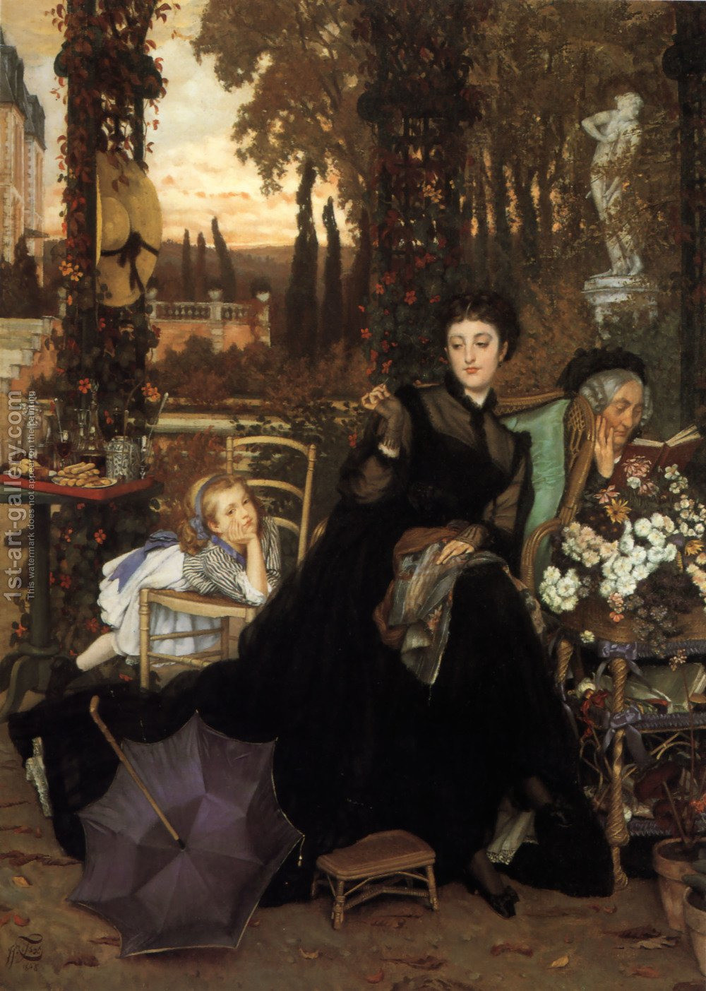 Painting of A Widow by James Jacques Joseph Tissot
