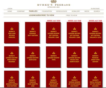 Screenshot for Burke's Peerage