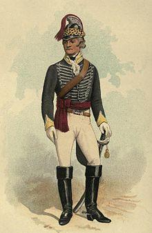 Painting of 19th Light Dragoon, 1792