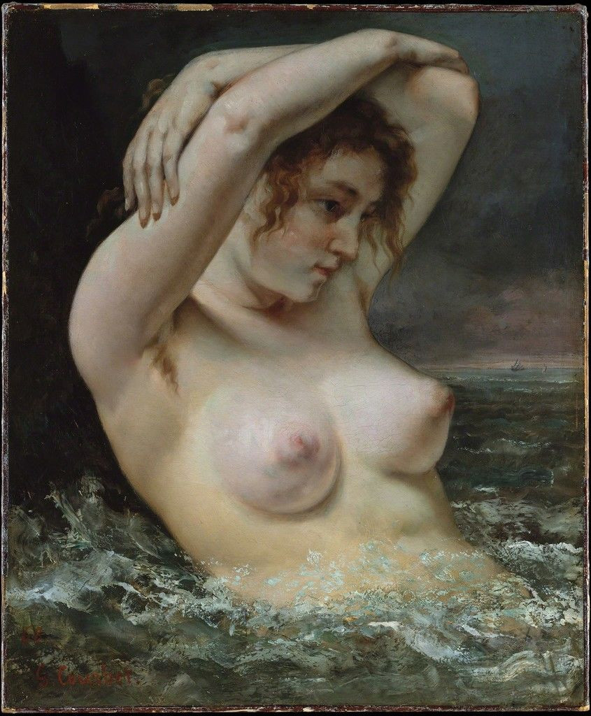 The Woman in the Waves by Gustave Courbet, 1863