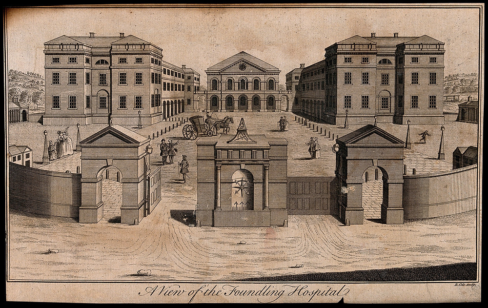 Sketch of Foundling Hospital in London