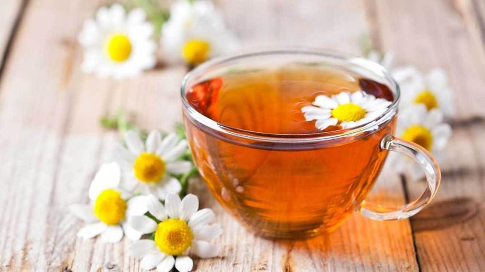 Photograph of Chamomile Tea & Flowers