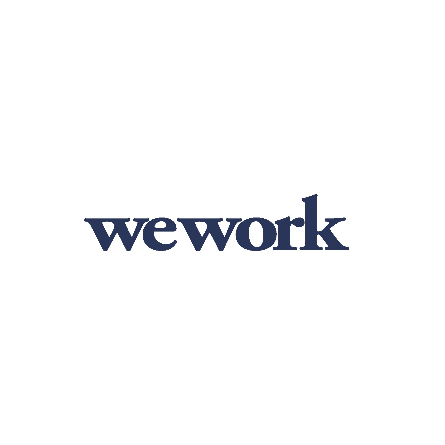 WeWork logo - Landed blue