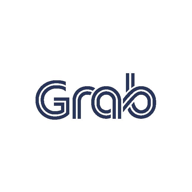 grab logo white