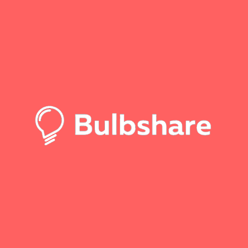 Builbshare - White on red