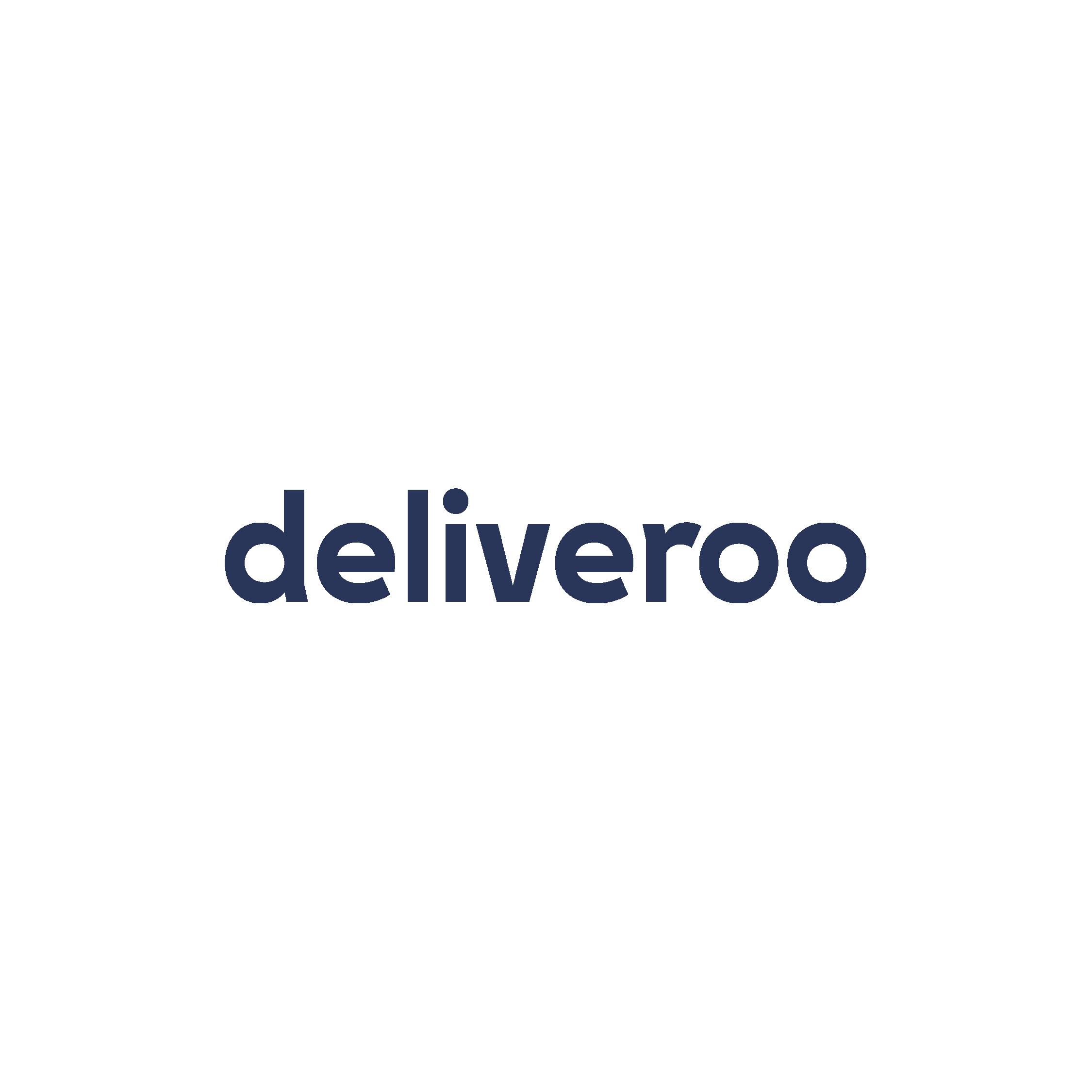 Deliveroo logo - Landed blue