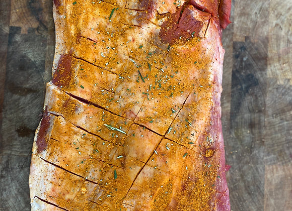 Grass Fed Beef Brisket in a Texas smokey rub