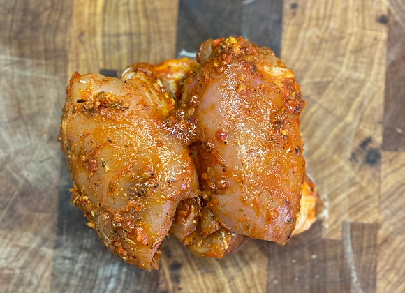 Chicken thigh fillet in a Portuguese marinade